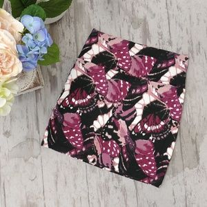 Butterfly Floral Bodycon Mini Skirt